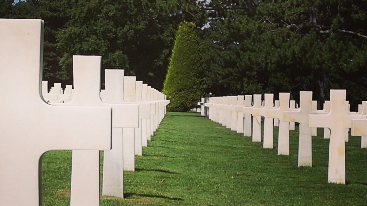 Magnifique lieu d'histoire ... 🇺🇸 🇨🇵 #dday75thanniversary #omahaBeach #Normandie