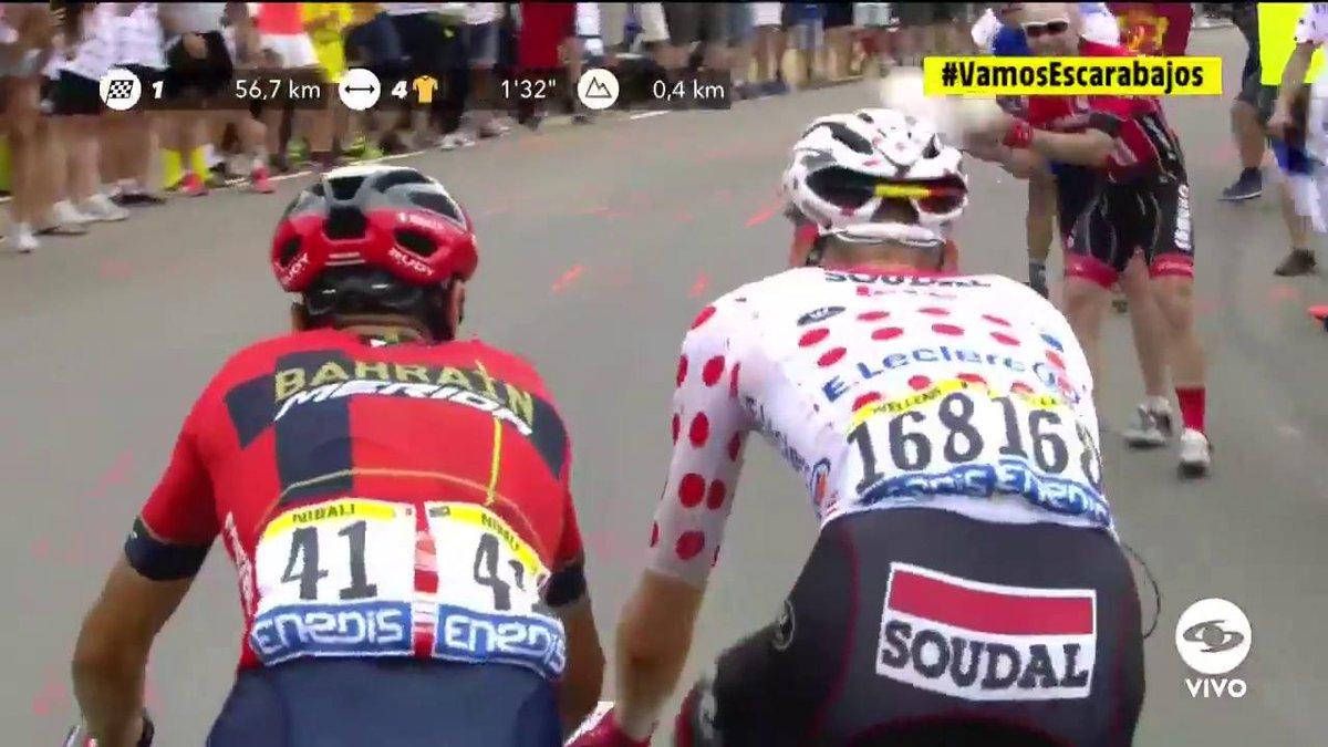 #VamosEscarabajos Tim Wellens (Lotto-Soudal) ganó el premio de montaña de primera categoría en el Col Du Soulor. Vea la etapa 14 del Tour de Francia EN VIVO >>> http://eltourporcaracol.com