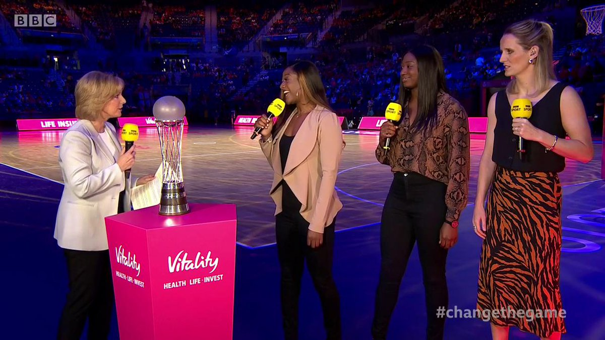 The atmosphere is building.Not long now.Who will join Australia in the final?Netball World Cup semi-final build-up: https://bbc.in/2Y0C95q #bbcnetball #ChangeTheGame