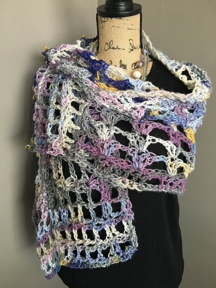 http://ChestnutCrochetShop.etsy.com Excited to share this from my #etsy shop: Multi Color Crochet Summer Shawl, Open Weave Multi Color Crochet Shawl, Wedding Shawl, BoHo Shawl, Gift for Her https://etsy.me/2O5HWqA #accessories #shawl #blue #wedding #BoHoStyle