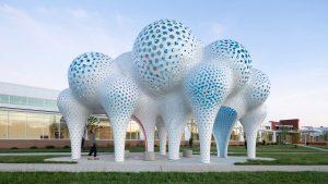 The Very Many creates Pillar of Dreams pavilion in Charlotte, North Carolina. dezeen.com/?p=1385239