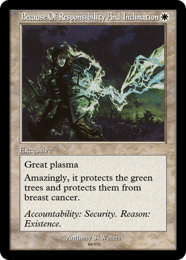 Great plasma: protecting trees from breast cancer since... forever, I guess. #GoogleTranslatesMTG  (original:  https:// gatherer.wizards.com/Pages/Card/Det ails.aspx?multiverseid=27674  … )<br>http://pic.twitter.com/8V3t1uyWZl