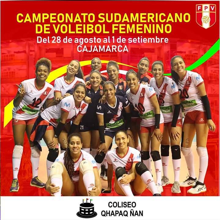 📣 Cajamarca se alista para recibir a nuestra selección mayor, para disputar el Campeonato Sudamericano de Voleibol Femenino. Pintemos el coliseo de rojo y blanco  #ArribaPerú 🇵🇪🏐