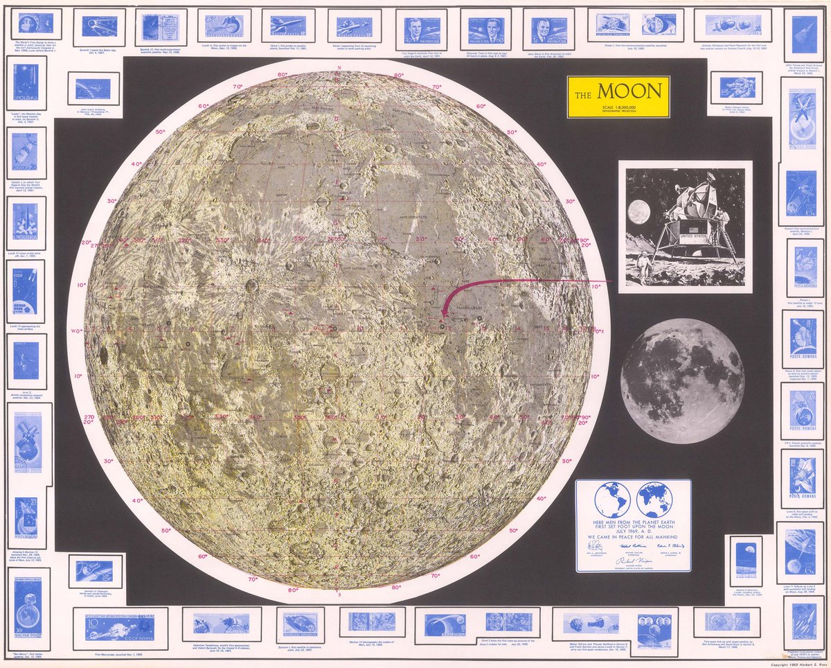 MOON DAY! Today is the 50th anniversary of the first #moonlanding. Take a look at loads of maps of the moon from the past 400 years to celebrate – dezeen.com/2019/07/20/map… (via @dezeen )🌚🌚🌚