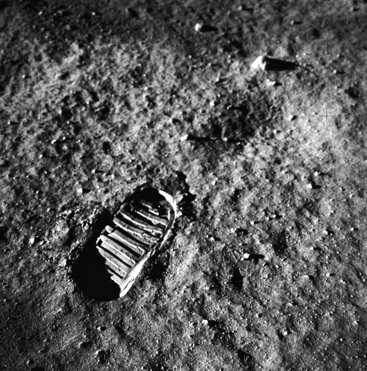 109:24:23 Armstrong: That's one small step for (a) man; one giant leap for mankind.