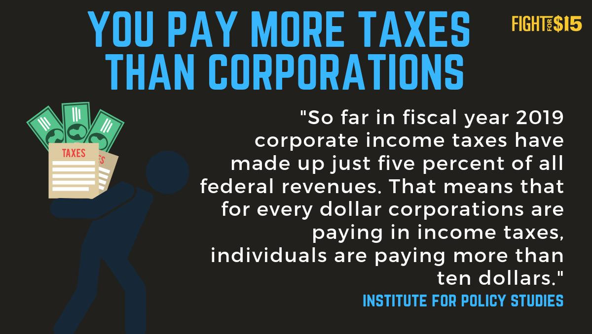 Corporations are not paying their fair share: The economy is rigged against working people  http:// qoo.ly/yp3ji      #TaxDay #FightFor15<br>http://pic.twitter.com/xlPYOP6YA6