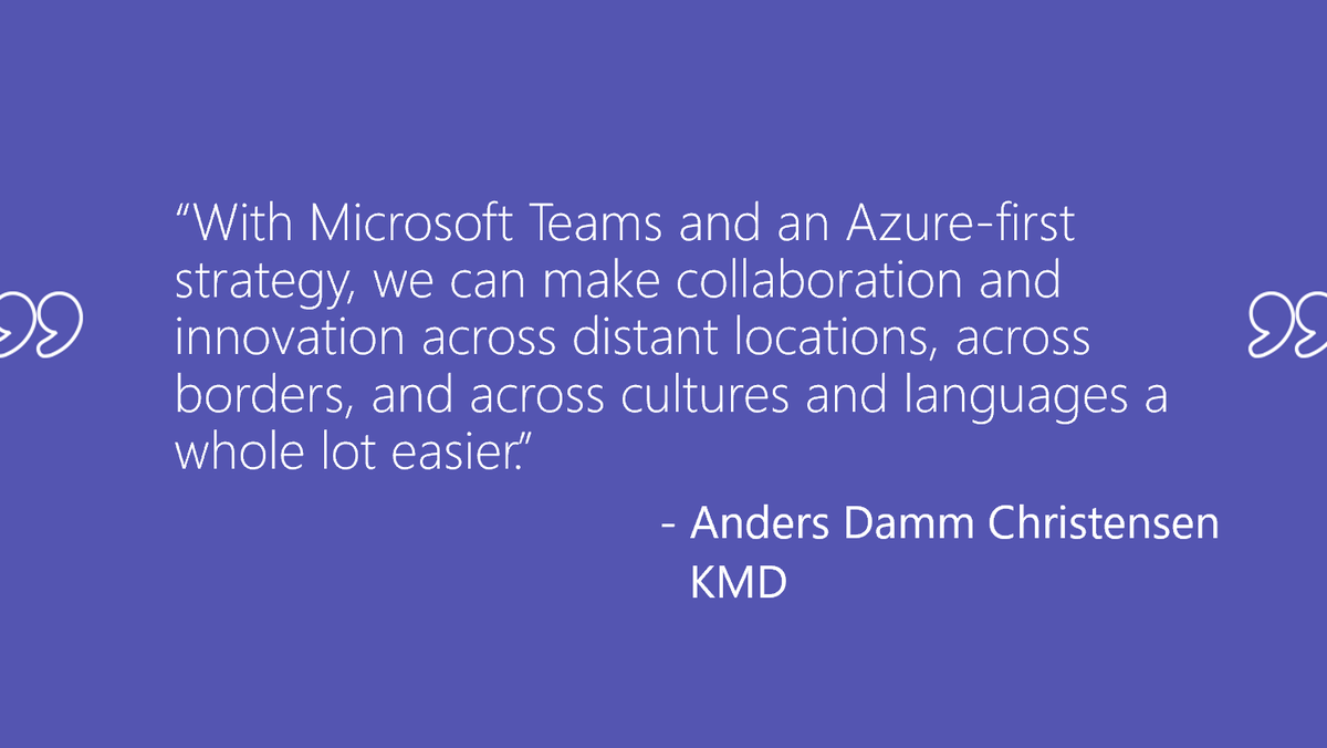 Read about how Danish software and IT services firm @KMDIT uses #MicrosoftTeams to draw its geographically dispersed workforce together. http://msft.social/EfSbqZ