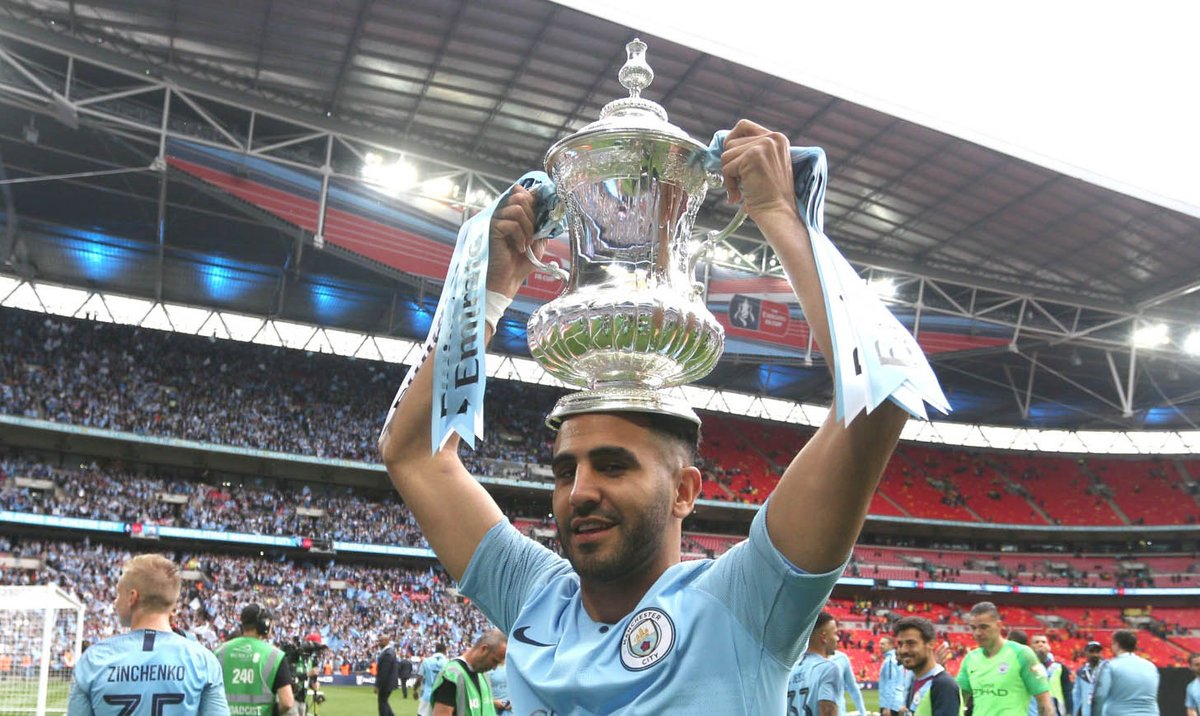 """90min on Twitter: """"🏆 - African Nations 🏆- FA Cup 🏆- Premier League 🏆- Carabao Cup What a year it's been for Riyad Mahrez!… """""""