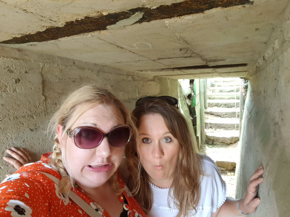 The Education Team do get in to some tight spots! Here are some of us exploring the Fortifié Site Hillman in Colleville-Montgomery #normandy2019 #dday75thanniversary #DDay75 #research