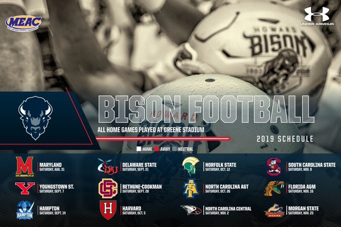 Check out the @HUBISONFOOTBALL 2019 schedule. 🏈