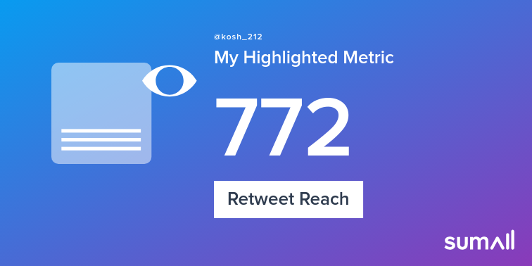 My week on Twitter 🎉: 7 Mentions, 3 Likes, 3 Retweets, 772 Retweet Reach, 2 New Followers, 7 Replies. See yours with https://sumall.com/performancetweet?utm_source=twitter&utm_medium=publishing&utm_campaign=performance_tweet&utm_content=text_and_media&utm_term=5c0db0a660de9e1f85fb7859…