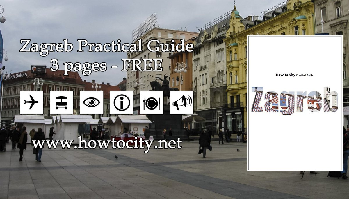 Some of the How To City Practical Guides are free, like this Zagreb Guide, get it here: https://www.howtocity.net/practical-guides…  #HowToCity #PracticalGuide #traveladvice #sights #traintravel #traveltips #easiertravel #Zagreb #Croatia 🇭🇷