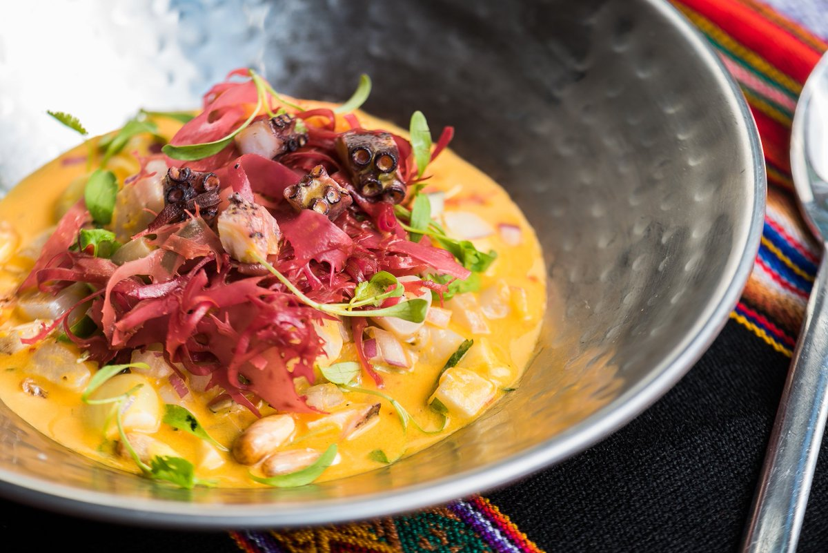 Ceviche de Carretilla is Peruvian street food at its best, combining octopus, conch, razor clams, and fish in leche de tigre. #CevicheFestival https://t.co/yCVXaIIvGL