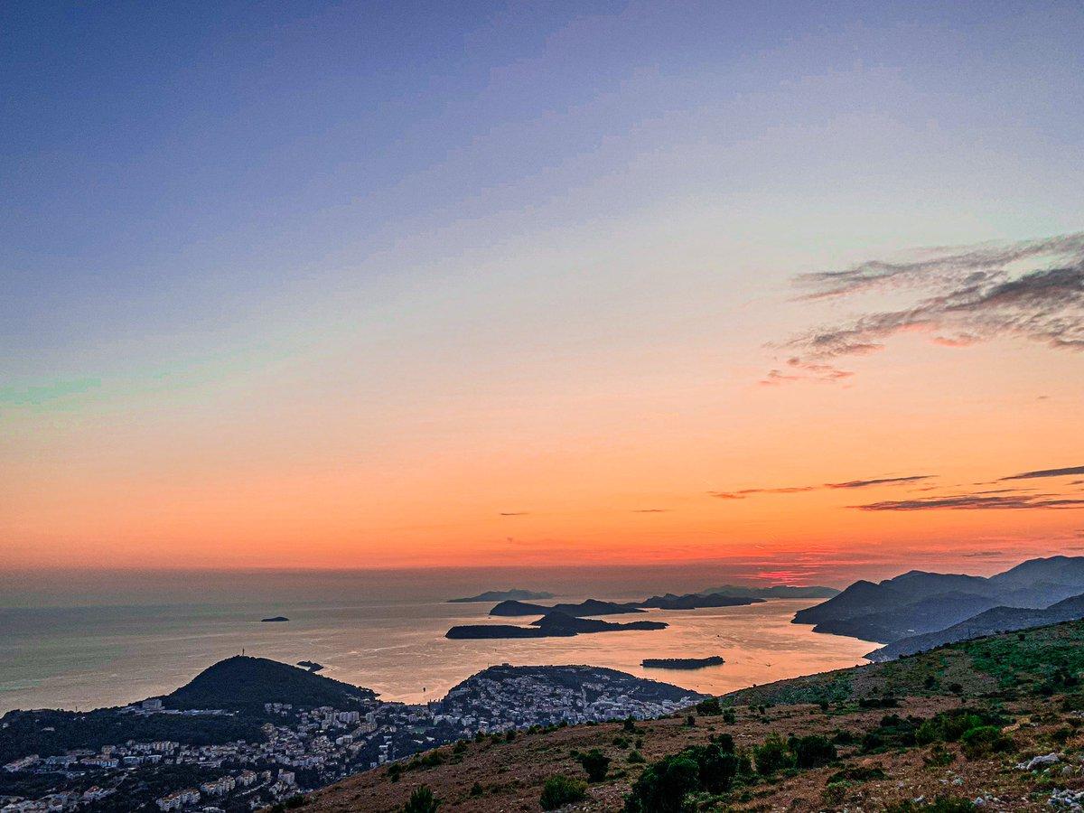 Sunset in #Dubrovnik #redsky #Croatia