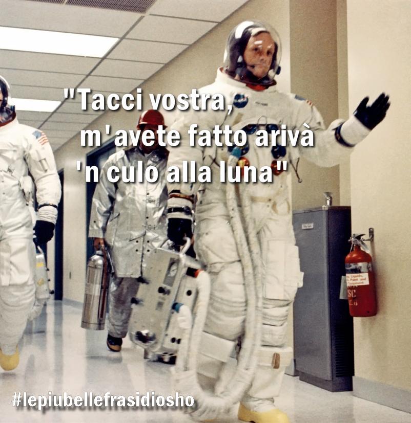 Ma non gliel'avevano detto che sarebbe andato lì? #sbarcosullaluna #Luna #Apollo50thMoonLanding #20luglio1969