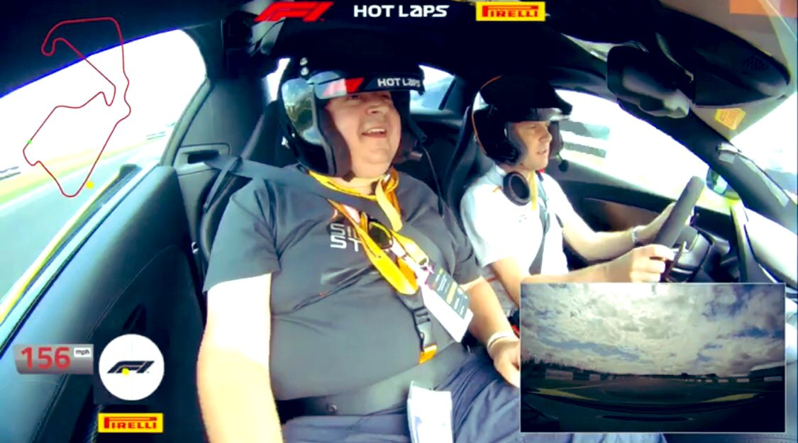 I honestly can't thank you all enough for this amazing, once in a lifetime experience you surprised me with at @SilverstoneUK. I am still grinning from ear to ear. The onboard vid is a fantastic reminder of my incredible #F1PirelliHotLaps experience. We hit 156mph! 🔥🙌🏻🏁💚