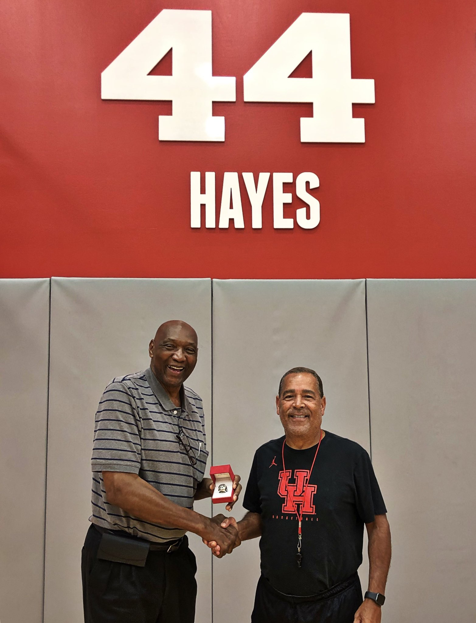 Houston Cougars NCAA Basketball: Can't think of a better place for @Hoophall famer @ElvinHayes44 to receiv...