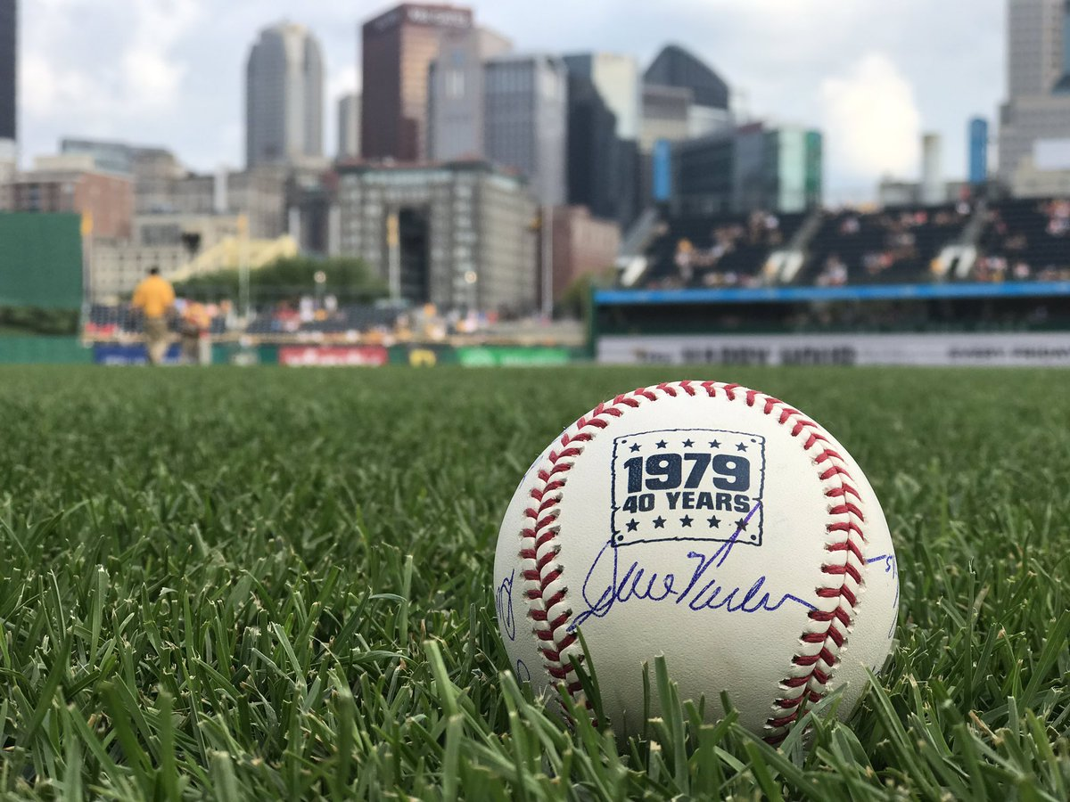 RETWEET THIS for a chance to win one of our special 1979 baseballs SIGNED by members of the 1979 World Champion Buccos! #FamaleeForever
