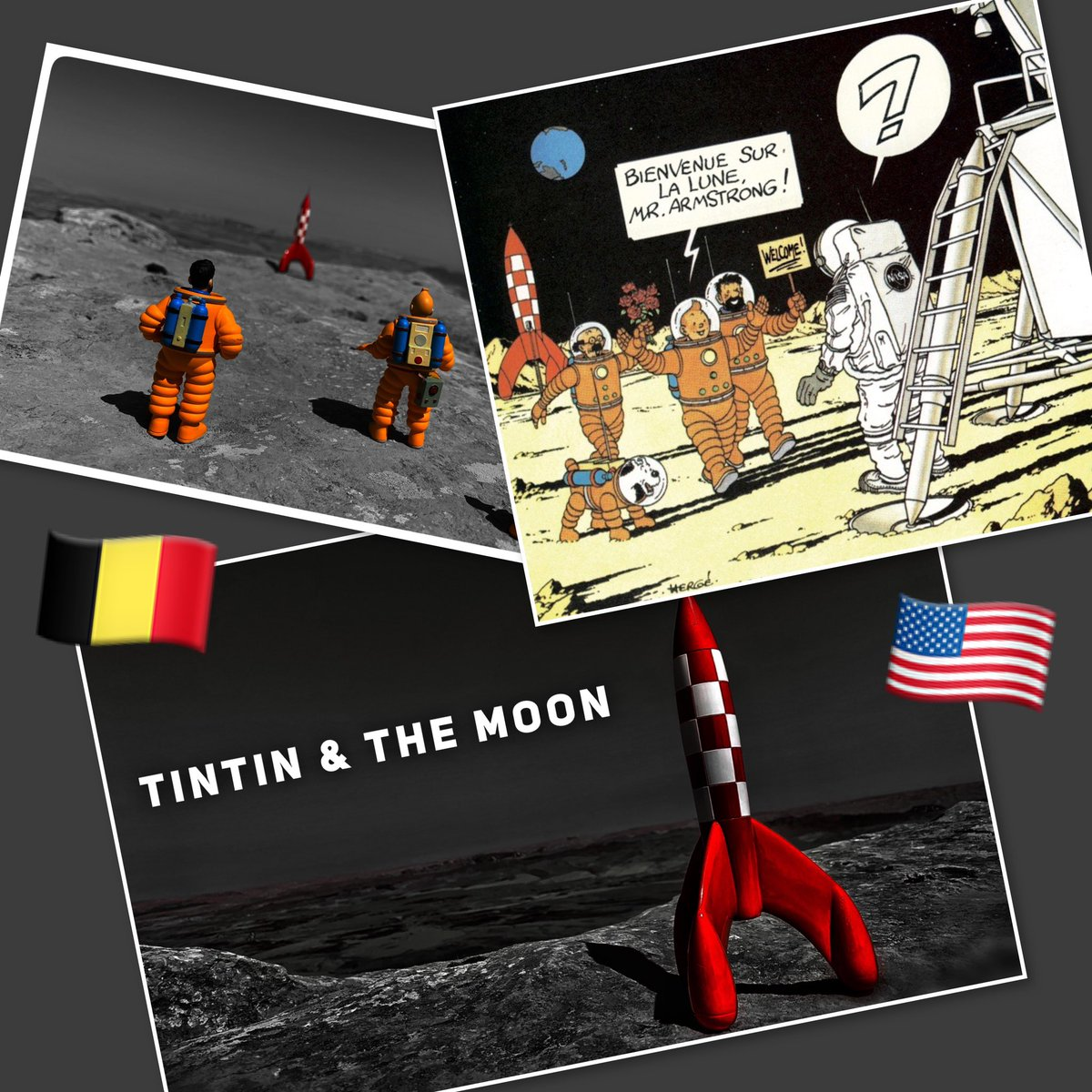 Welcome to the Moon Mr #armstrong ! #tintin #apollo11anniversary #apollo50th #belgiannationalday<br>http://pic.twitter.com/LQdQXUGcsi