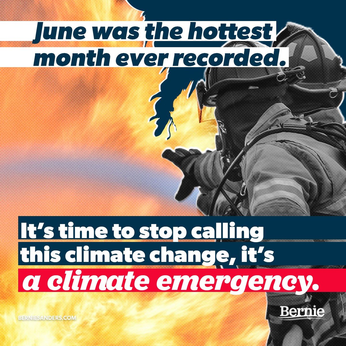 Two-thirds of the country is experiencing a severe heat wave  June was the hottest month on record —EVER  The Arctic is melting at alarming rates  Let's call it what it is — a Climate Emergency We must act now and pass a Green New Deal   #HEATWAVE2019<br>http://pic.twitter.com/6NInkspx0B