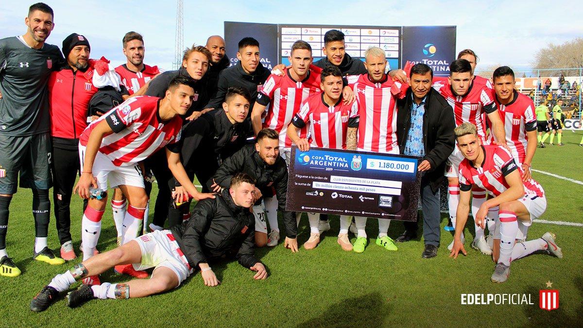 #Estudiantes / #CopaArgentina  ¡El cheque viaja hacia La Plata!  El León embolsó $1.800.000 por el pase a octavos de final.