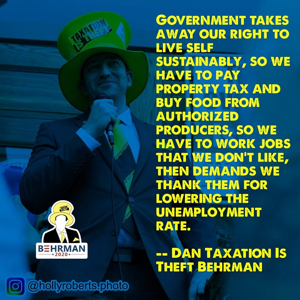 Well said!  Subscribe to our YouTube channel:  http:// bit.ly/2HDVMff     Get your TiT gear at:  http:// bit.ly/2QR9BYp      #taxationistheft #behrman2020 <br>http://pic.twitter.com/4GBVnMMJEe