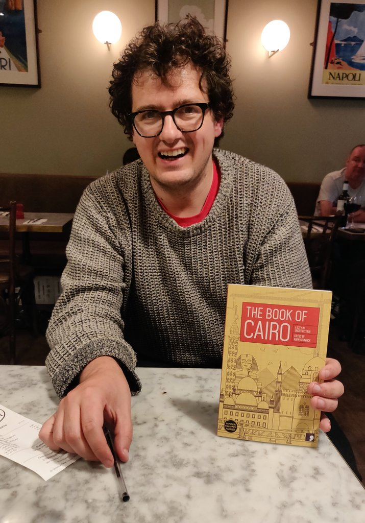 Another London highlight was catching up with @RaphaelCormack and finally getting a (signed!) copy of The Book of Cairo - everyone needs one and it can purchased from @commapress.