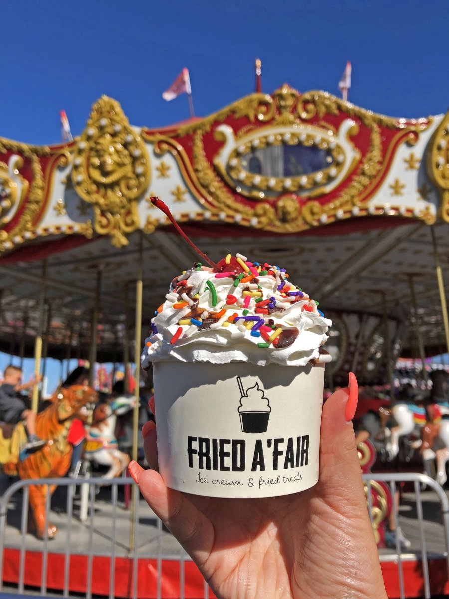 It's #NationalIceCreamDay! Celebrate by cooling down with creamy and sweet frozen Fair treats! #OCFairFun #AcresofFun #rcsfun #icecream