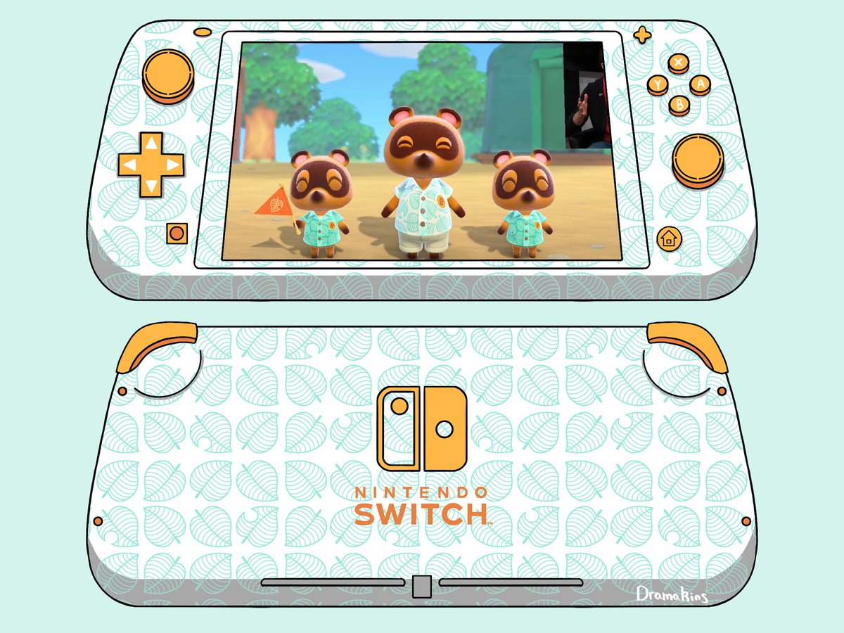 You know what I'm sick of? Ugly New Horizons Switch Lite mockups   So I hecking drew some   #AnimalCrossing<br>http://pic.twitter.com/oxHxXtWH9w
