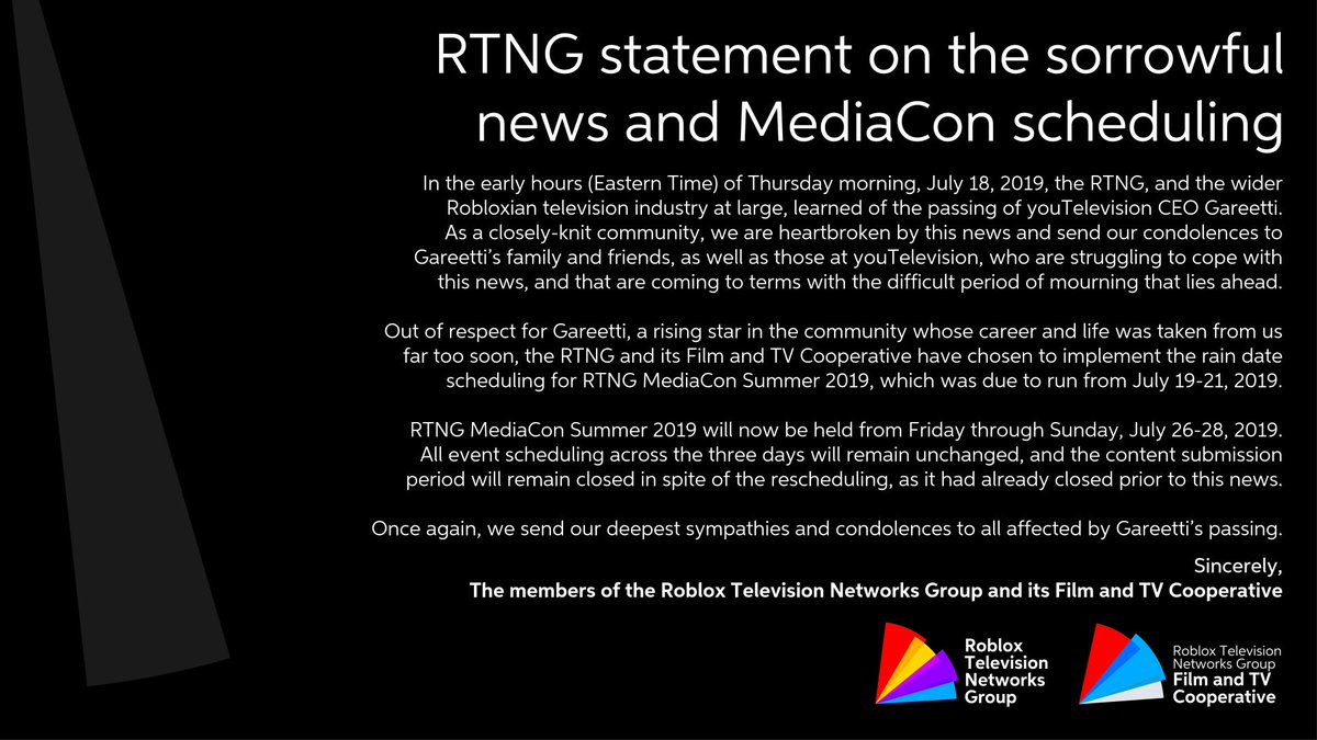 Roblox Television Networks Group At Thertng Twitter - once again there are no cheats for roblox roblox network