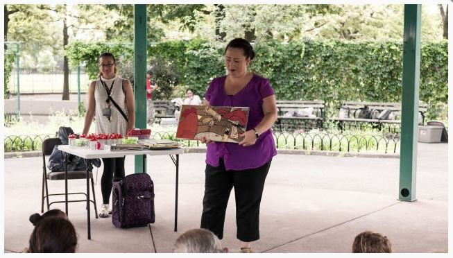 "@PelhamLibrary ,@CityIslandNYPL , & Baychester Library continue the ""Stories In The Shade"" children's #storytime Thurs. from 11-11:30am until Aug 22, under the Gazebo @PelhamBayPark. Next one: July 25, weather permitting. @nypl https://on.nyc.gov/2Y0BR2f"