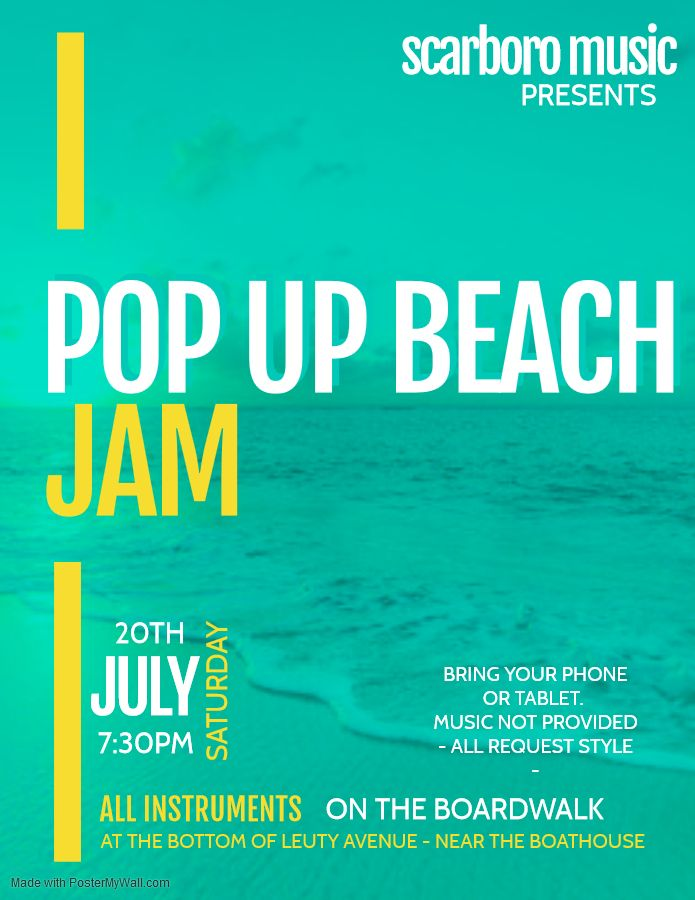 POP UP BEACH JAM - T O N I G H T! All instruments - Along the boardwalk by the Leuty Boathouse.  All musicians, singers, dancers and music lovers welcome! #wearemusic #jamnight #beachjam #jamonthebeach <br>http://pic.twitter.com/2l5VZNyhMK