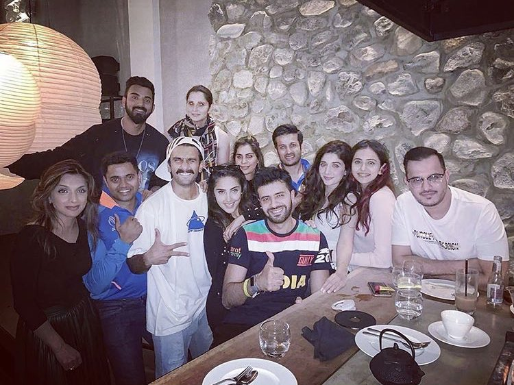 PIC #6 Ranveer Singh clicked post #indiaVsPakistan game in Manchester.