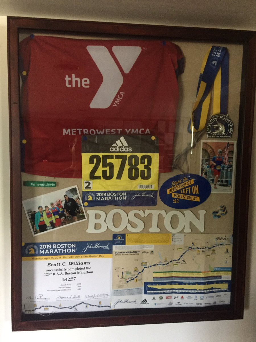 I might actually prouder of this than my time. #bostonmarathon #runchat #medalmonday<br>http://pic.twitter.com/7gXeU9DJmE