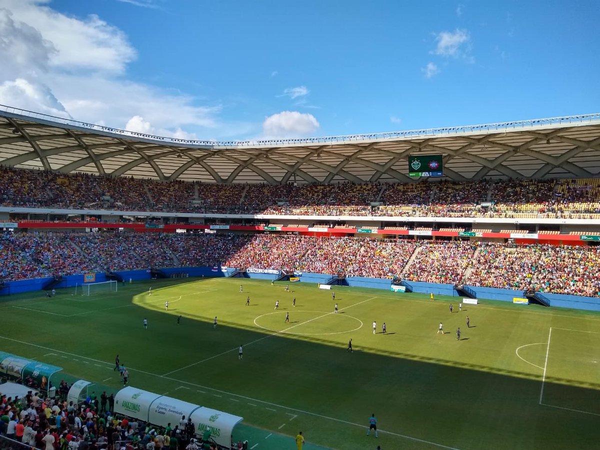 Não se fala de outra coisa nessa cidade! Todo mundo emocionado na Arena da Amazônia!#FutebolAmazonense   Vai @oficialmanausfc!!