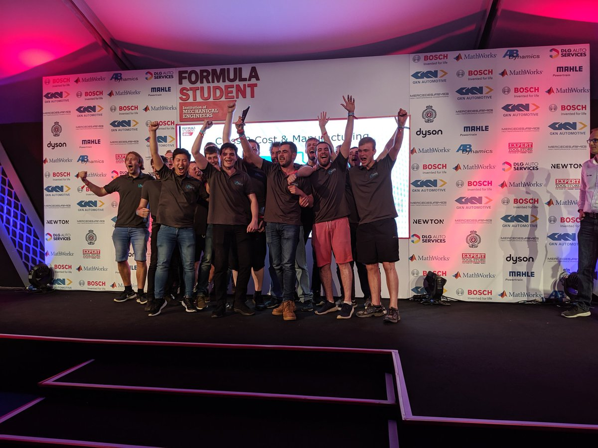 And the Class 2 Cost winners are.... University of Portsmouth Electric #FS2019