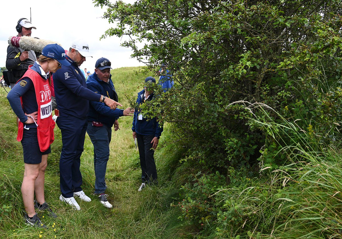 """Lee Westwood on not pushing for a free drop....  """"It's against the spirit of the game. I couldn't have played the shot even if it was sitting on a tee. I could have faked it and said, I hit left-handed over me shoulder. You just let your conscience be your guide."""""""
