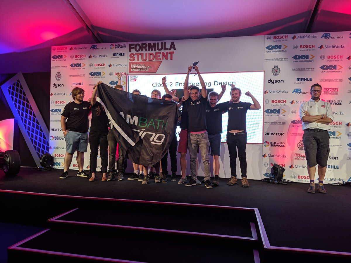 Congratulations @TeamBathRacing Class 2 Design winners for #FS2019