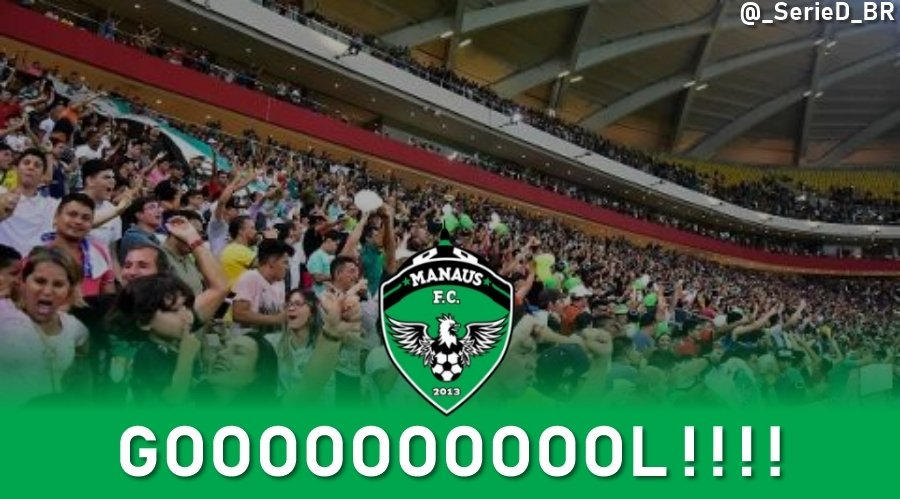 GOOOOOOOOOOL DO MANAUS! 27'/2T @oficialmanausfc 1x0 @sercaxias  AGG: 1x1 (alerta de pênaltis!)