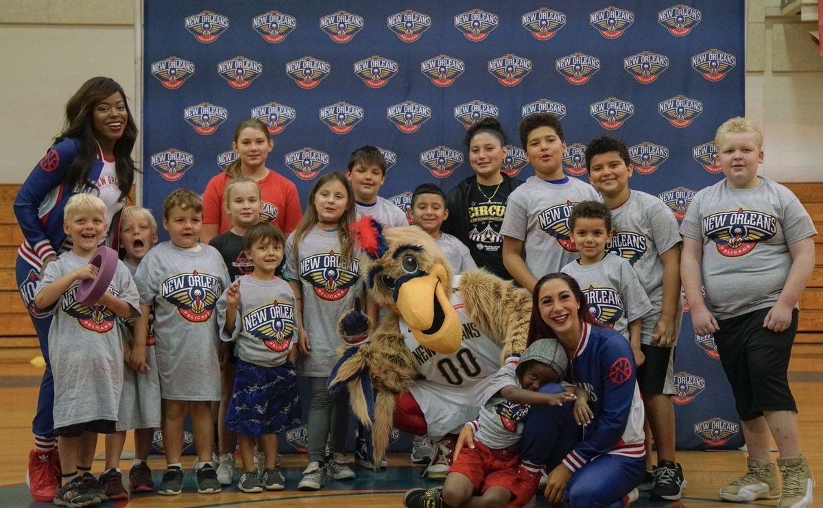 The @pelicansnba & 3-Point Club of New Orleans teamed up to put on a basketball clinic for children who are dealing with illnesses that prevent them from participating in regular athletic programs. For more information, please go to Pelicans.com #pelicanscommunity