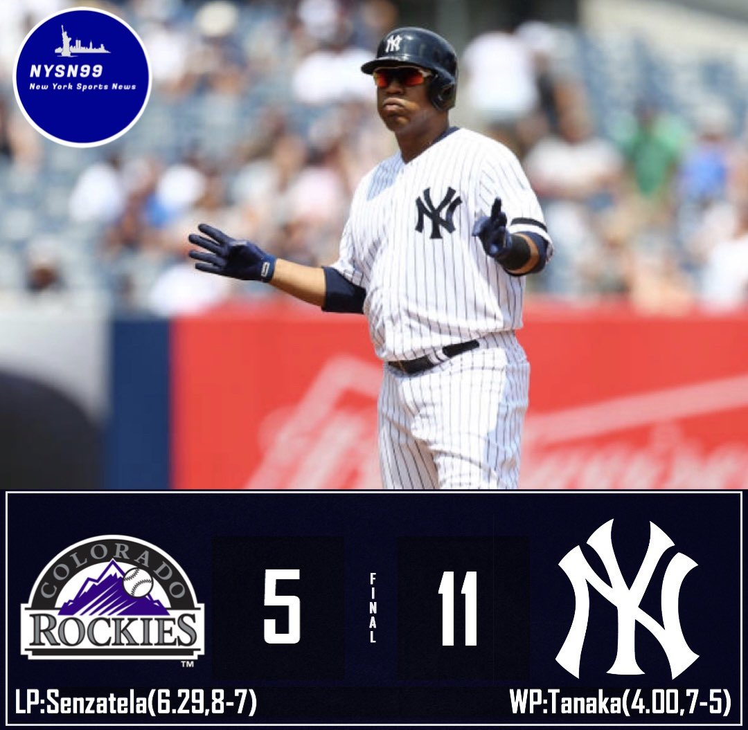 The Yankees win 11 to 5 to make it back to back wins against the Rockies! #YankeesWin #yankees