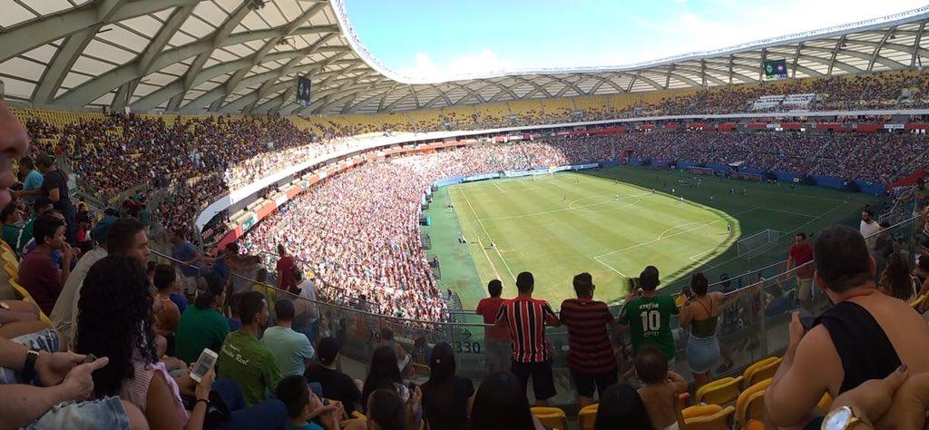 O MANAUS subiu para a série C hoje após bater o Caxias por 3 a 0 diante de mais de 44 mil pessoas na Arena da Amazonia!