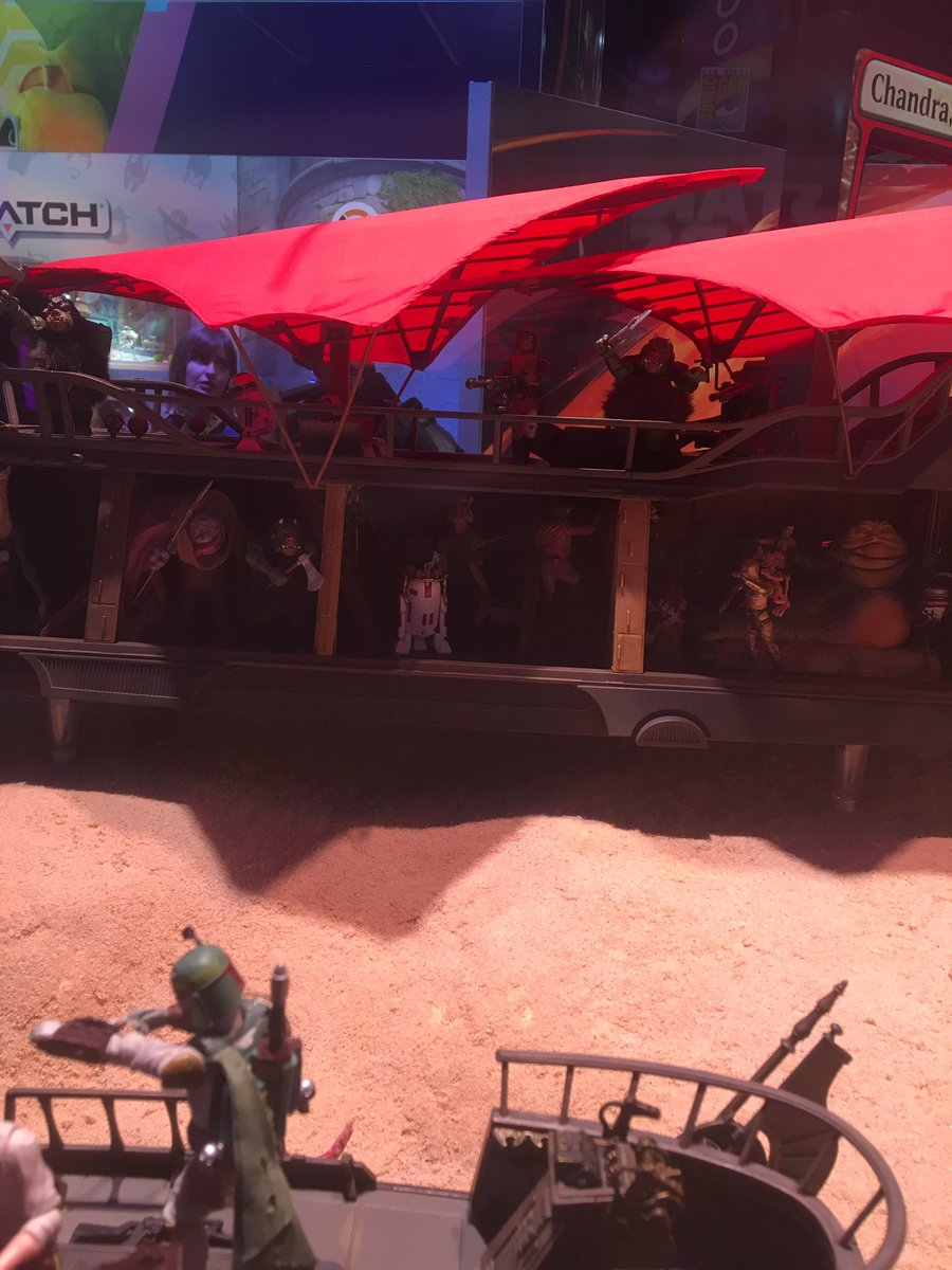 This setup of Jabba's sail barge over the Sarlacc pit is one