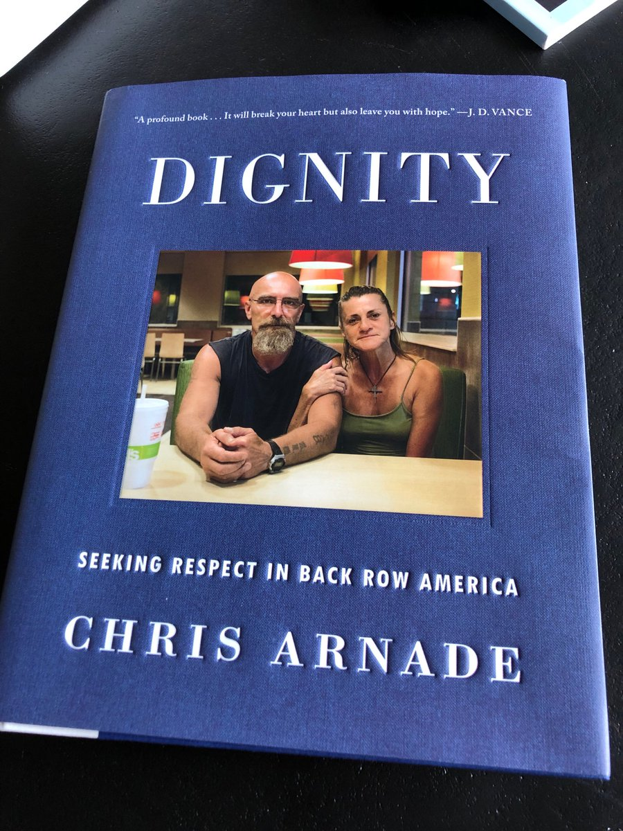 Finished Chris Arnade's new book today. This is a very important, really excellent book. Hope every member of Congress will read it