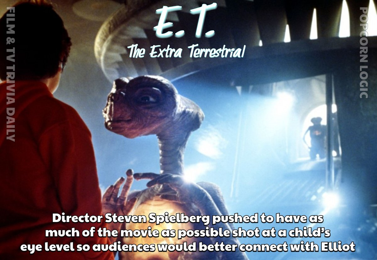 Spielberg at his best!  #ETTheExtraTerrestrial  #ET #scifi #TevenSpielberg #Film #Movie #Trivia #Facts #TheMoreYouKnow