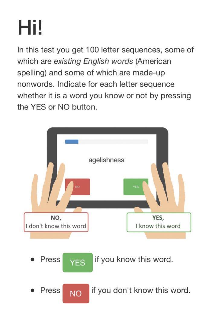 👍🏻 موقع رائع يقيس مستواك في مفردات اللغة الإنجليزية  يطلب