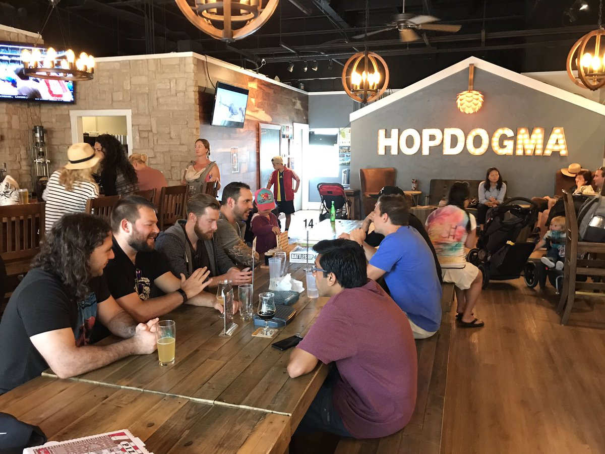 Had a fun time enjoying great beer at @HopDogma with my @SHGames family! #LifeAtSHG<br>http://pic.twitter.com/4em1ZjpG6R – à Hop Dogma Brewing Co.