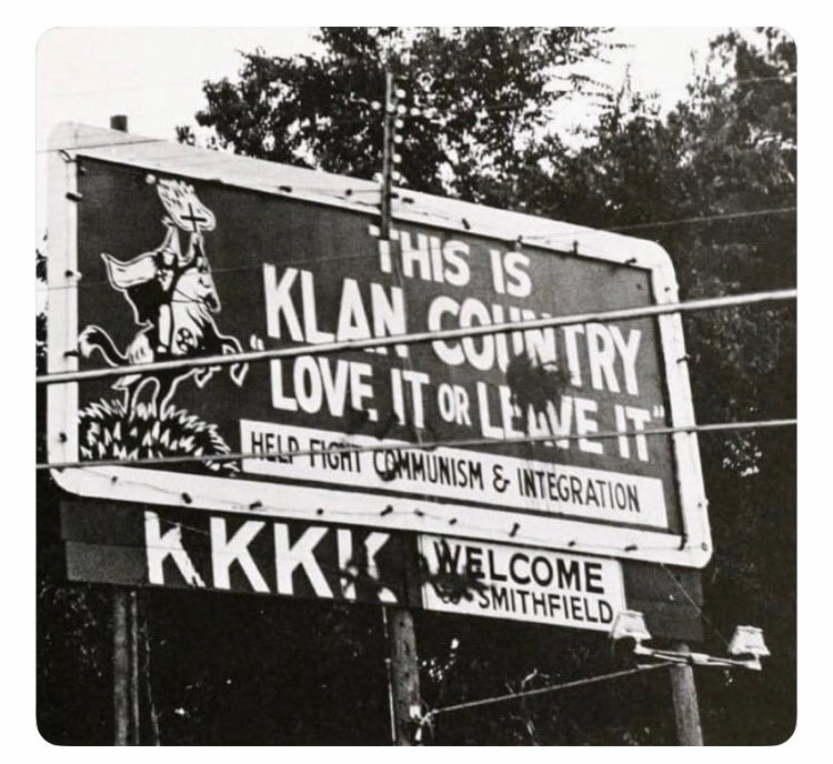"""""""And on my home in #SouthCarolina, I remember feeling full of white pride as I rode by billboards that read, 'Love it or leave it', written so beautifully by the local Ku Klux Klan""""  — lil @LindseyGrahamSC   #Apollo11"""