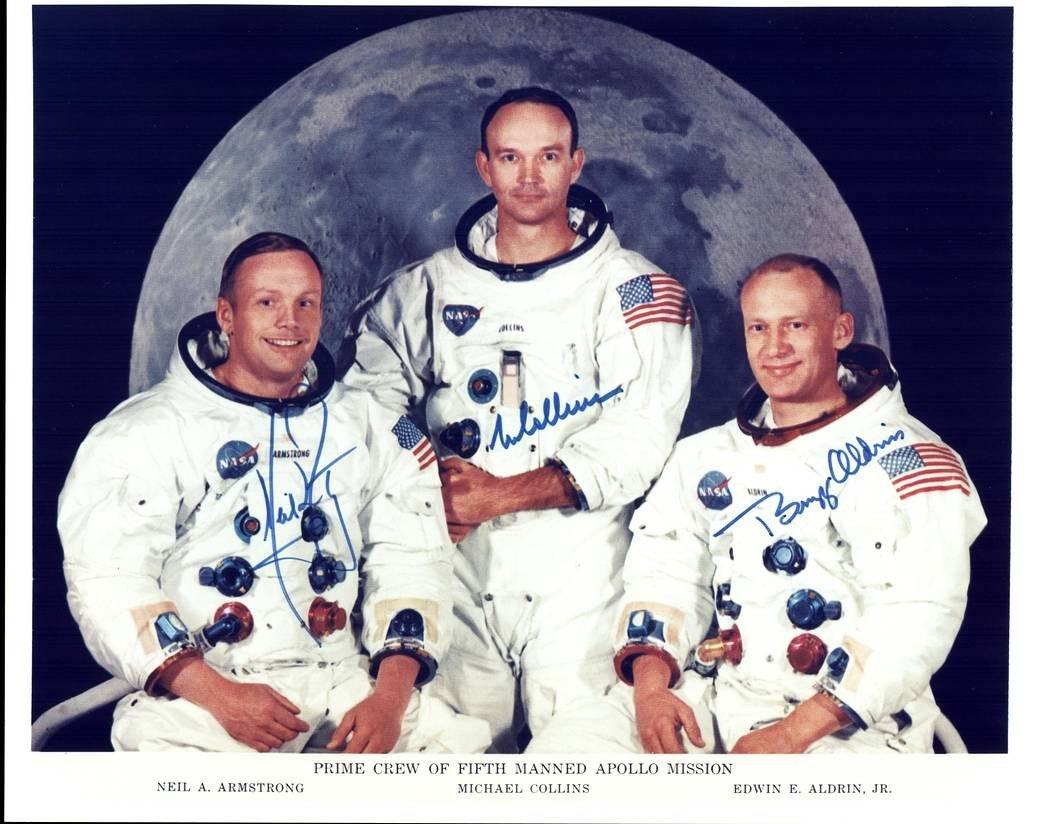 A tripulação da missão Apollo 11: Neil Armstrong, Michael Collins, e Edwin (Buzz) Aldrin Jr.#Apollo11 #Apollo50th