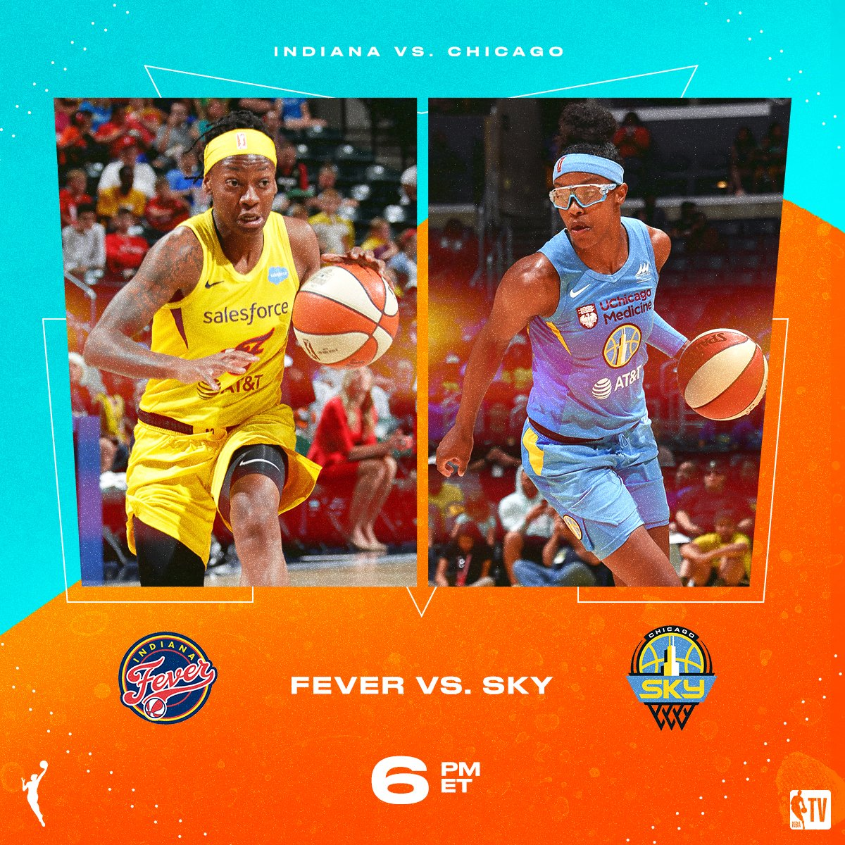 The @IndianaFever meet the @wnbachicagosky // NEXT on NBA TV! 📺